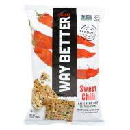 Way Better Snacks Tortilla Chips - Sweet Chili - Case Of 12 - 5.5 Oz.
