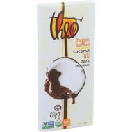 Theo Chocolate Organic Chocolate Bar - Classic - Dark Chocolate - 70 Percent Cacao - Coconut - 3 Oz Bars - Case Of 12