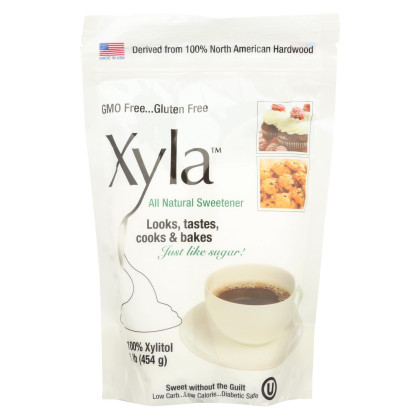 Xyla All Natural Sugar Free - Sweetener - Case of 6 - 1 lb.