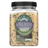 Rice Select Royal Blend - Light Brown, Flaxseed - Case of 4 - 28 oz.