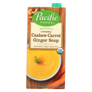 Pacific Natural Foods Carrot Ginger Soup - Organic Cashew - Case Of 12 - 32 Fl Oz.