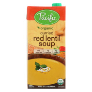 Pacific Natural Foods Curried Soup - Red Lentil - Case Of 12 - 32 Fl Oz.
