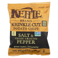 Kettle Brand Potato Chips - Sea Salt And Crushed Black Pepper - Case Of 24 - 1.5 Oz.