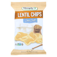 Simply 7 Lentil Chips - Sea Salt - Case Of 12 - 4 Oz.