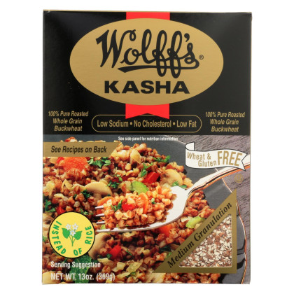 Wolff's Kasha Medium Granulation - Case of 6 - 13 oz.
