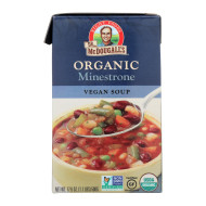 Dr. Mcdougall'S Organic Minestrone Soup - Case Of 6 - 17.6 Oz.