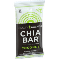 Health Warrior Chia Bar - Coconut - .88 oz Bars - Case of 15