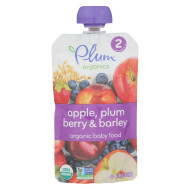 Plum Organics Baby Food - Apple, Plum, Berry And Barley - Case Of 6 - 3.5 Oz.