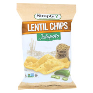 Simply 7 Lentil Chips - Jalapeno - Case Of 12 - 4 Oz.