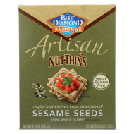 Blue Diamond Artesion Nut Thins - Sesame Seed - Case Of 12 - 4.25 Oz.