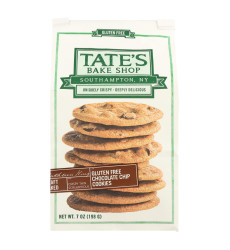 Tate'S Bake Shop Cookies - Chocolate Chip - Case Of 12 - 7 Oz.