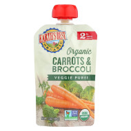 Earth'S Best Organic Carrots And Broccoli Baby Food Puree - Stage 2 - Case Of 12 - 3.5 Oz.