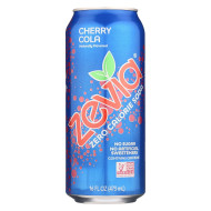 Zevia Zero Calorie Soda - Cherry Cola - Case Of 12 - 16 Fl Oz