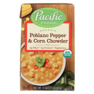 Pacific Natural Foods Organic Poblano - Pepper and Corn Chowder - Case of 12 - 17 oz.