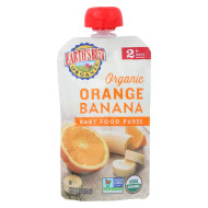 Earth'S Best Organic Orange Banana Baby Food Puree - Stage 2 - Case Of 12 - 4 Oz.