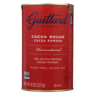 Guittard Chocolate Cocoa Powder - Unsweetened - Case Of 6 - 8 Oz.