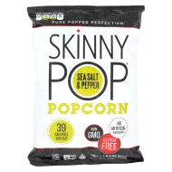 Skinnypop Popcorn Skinny Pop - Sea Salt And Black Pepper - Case Of 12 - 4.4 Oz.
