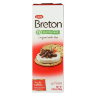 Dare Breton Crackers - Original With Flax - Case Of 6 - 4.76 Oz.