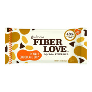 NuGo Nutrition Bar - Fiber dLish - Peanut Chocolate Chip - 1.6 oz Bars - Case of 16