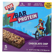 Clif Kid Zbar Organic Kid Zbar Protein - Chocolate Chip - Case Of 6 - 1.27 Oz.