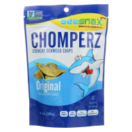 Seasnax Chomperz Crunchy Seaweed Chips - Original - Case Of 8 - 1 Oz.