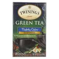 Twining'S Tea Green Tea - Nightly Calm - Case Of 6 - 20 Bags
