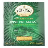 Twining'S Tea Breakfast Tea - Irish, Black - Case Of 6 - 50 Bags