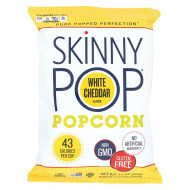 Skinnypop Popcorn Skinny Pop - White Cheddar - Case Of 12 - 4.4 Oz.