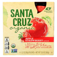 Santa Cruz Organic Apple Sauce - Strawberry - Case Of 6 - 3.2 Oz.