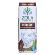 Zola Coconut Water - Espresso - Case of 12 - 17.5 oz.