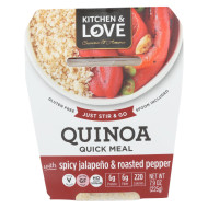 Cucina and Amore Quinoa Meals - Spicy Jalapeno and Roasted Peppers - Case of 6 - 7.9 oz.