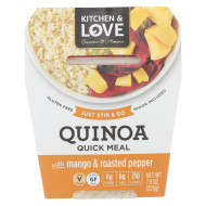 Cucina and Amore Quinoa Meals - Mango and Jalapeno - Case of 6 - 7.9 oz.
