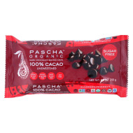 Pascha Chocolate Chips - Dark Unsweetened - Case Of 6 - 8.8 Oz.