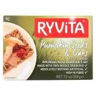 Ryvita Crisp Bread Crispbread - Pumpkin Seed And Oat - Case Of 8 - 7 Oz.