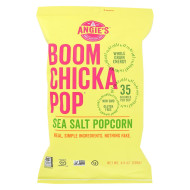 Angie'S Kettle Corn Boom Chicka Pop Sea Salt Popcorn - Case Of 12 - 4.8 Oz.