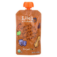 Ella'S Kitchen Baby Food - Apples Carrots Prunes Butternut - Case Of 12 - 3.5 Oz.