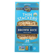 Lundberg Family Farms Organic Lund Brown Rice Low Sodium Stackers - Case Of 12 - 5.9 Oz.