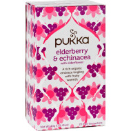 Pukka Herbal Teas Tea - Organic - Elderberry And Echinacea - 20 Bags - Case Of 6