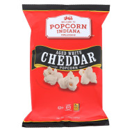 Popcorn Indiana Popcorn - Aged White Cheddar - Case Of 12 - 5.75 Oz.