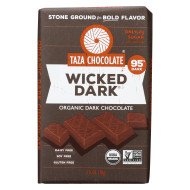 Taza Chocolate Stone Ground Organic Dark Chocolate Bar - Wicked Dark - Case Of 10 - 2.5 Oz.