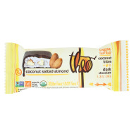 Theo Chocolate Coconut Bites - Dark Chocolate Coconut Salted Almond - Case Of 12 - 1.3 Oz.