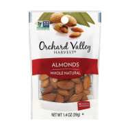 Orchard Valley Harvest Natural Whole Raw - Almonds - Case Of 14 - 1.4 Oz.