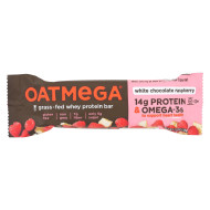 Oatmegabar White Chocolate - Raspberry - Case Of 12 - 1.8 Oz.
