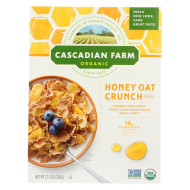 Cascadian Farm Cereal - Organic Corn Flakes, Wheat Flakes, Whole Grain Oats And Honey - Case of 10 - 13.5 oz.
