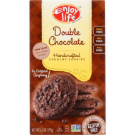 Enjoy Life Cookie - Crunchy - Double Chocolate - Gluten Free - 6.3 Oz - Case Of 6