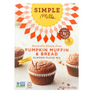 Simple Mills Almond Flour Pumpkin Muffin And Bread Mix - Case Of 6 - 9 Oz.
