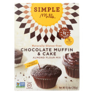 Simple Mills Almond Flour Chocolate Muffin And Cake Mix - Case Of 6 - 10.4 Oz.