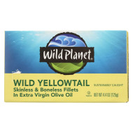 Wild Planet Wild Yellow Tail Fillets In Extra Virgin Olive Oil - Case Of 12 - 4.375 Oz.