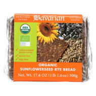 Genuine Bavarian Organic Bread - Sunflower Seed Rey - Case Of 6 - 17.6 Oz.