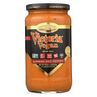 Victoria Pasta Sauce - Red Pepper Alfredo - Case of 6 - 18 fl oz